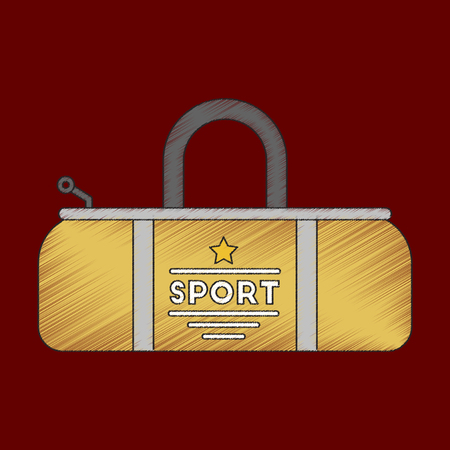 flat shading style icon Sports bag accessory