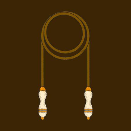 Icono de estilo de sombreado plano Jump rope Foto de archivo - 88463424