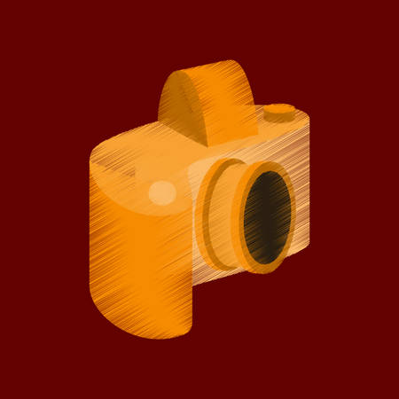 flat shading style icon camera Illustration