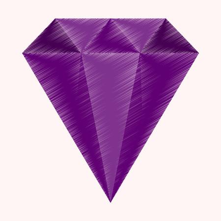 flat shading style icon diamond expensive jewelery Illustration