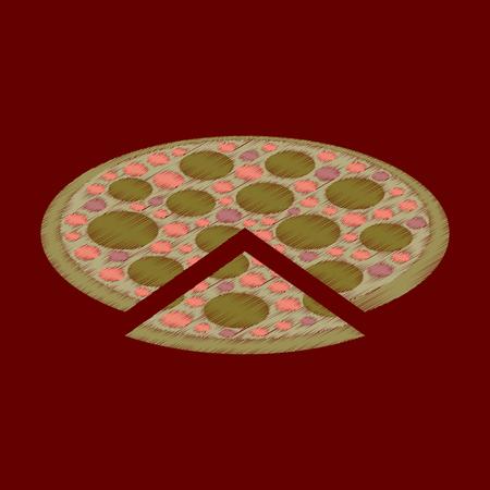 flat shading style icon pizza