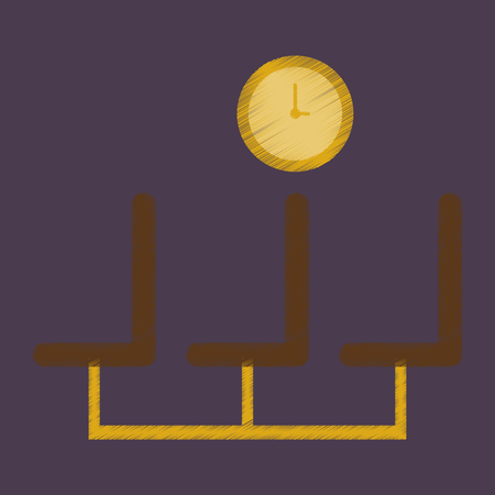 seating area: Flat Icon in Shading Style airport waiting room Illustration