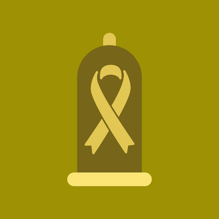 flat icon on stylish background condom contraceptive Ilustracja