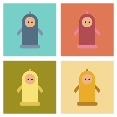 assembly flat icons condom contraceptive
