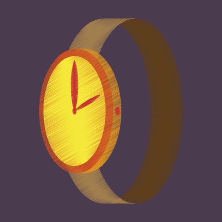 cronógrafo: icono de estilo de sombreado plano Reloj de pulsera Vectores