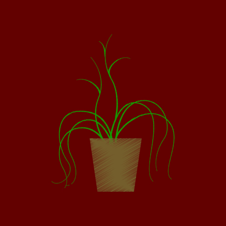 flat shading style icon plant in a pot Ilustrace