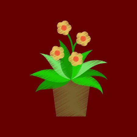 flat shading style icon Geranium