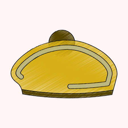 flat shading style icon golf beret accessory