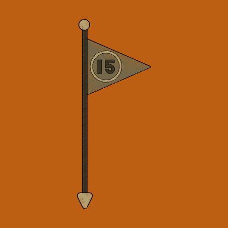 flat shading style icon Flag number winner
