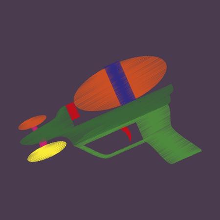 flat shading style icon Speelgoedgeweer Stock Illustratie