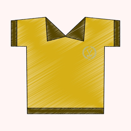 flat shading style icon Golf shirt Illustration