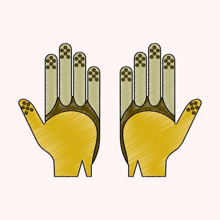 flat shading style icon Golf gloves