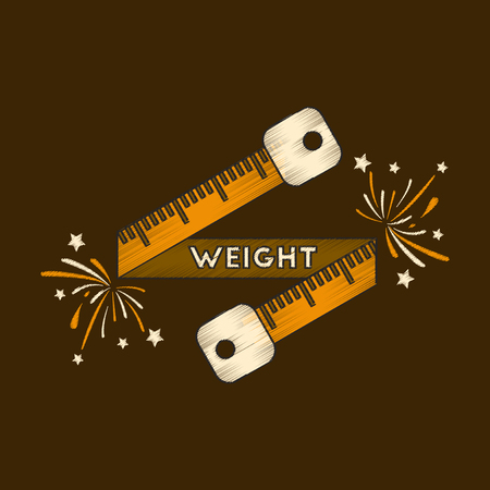 flat shading style icon Weight loss