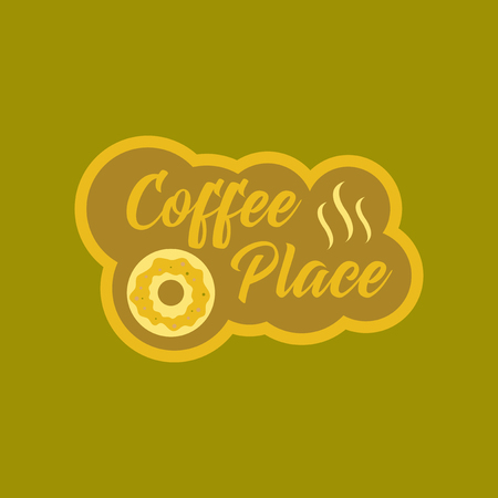 flat icon on background coffee drink place