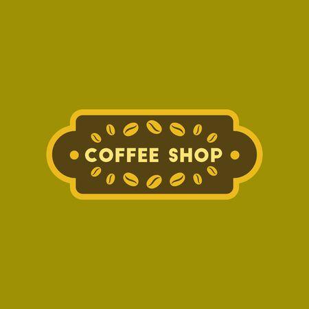 flat icon on background Coffee shop Illustration