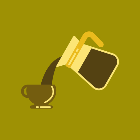 flat icon on background cup Coffee Maker