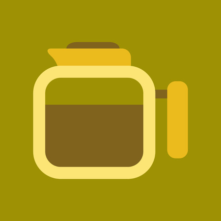 roasted: flat icon on background coffee machine maker