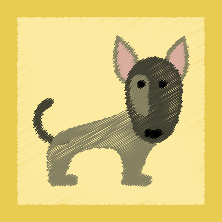 flat shading style icon pet dog Ilustrace