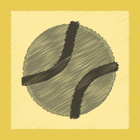 flat shading style icon dog toy ball