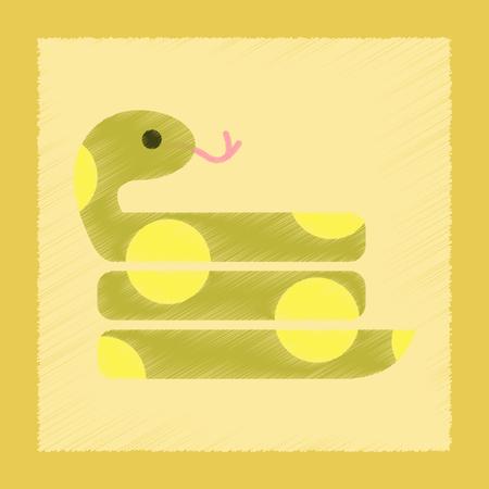 flat shading style icon reptile snake