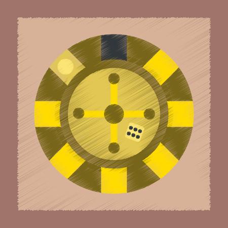 original single: flat shading style icon roulette casino