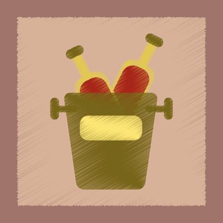 flat shading style icon bottle bucket