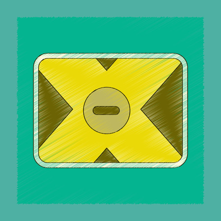 flat shading style icon removable hard drive