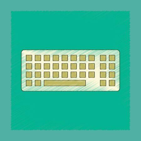 flat shading style icon computer keyboard
