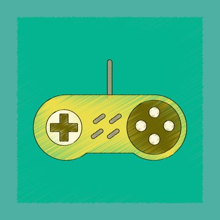 flat shading style icon game joystick Illustration
