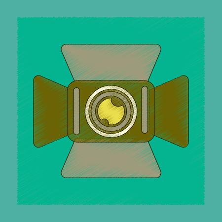 flat shading style icon technology camcorder