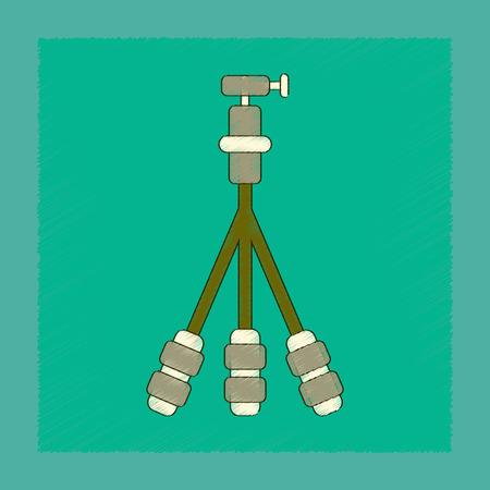 flat shading style icon technology tripod