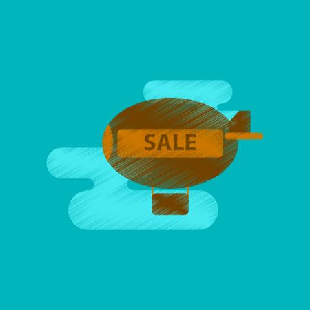 airship: flat shading style icon air balloon sale