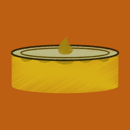 flat shading style icon Cheesecake