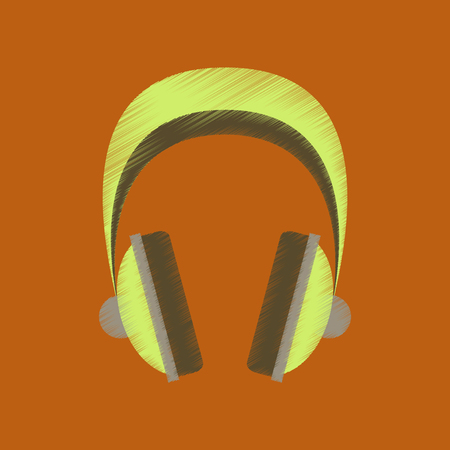 Flat shading style icon headphones stereo.