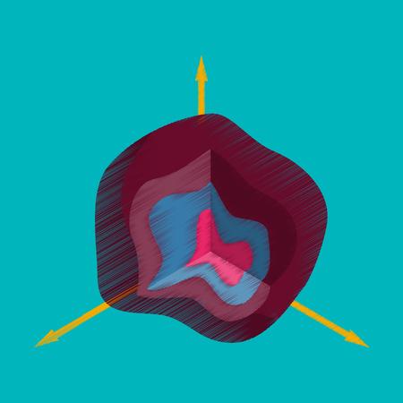 Flat shading style icon graph vector illustration