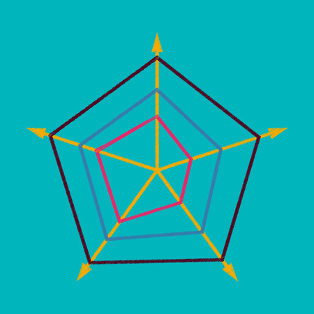 Vlakke arcering stijl pictogram pijlen vector illustratie Stock Illustratie