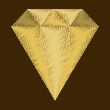 flat shading style icon diamond expensive jewelery Ilustrace