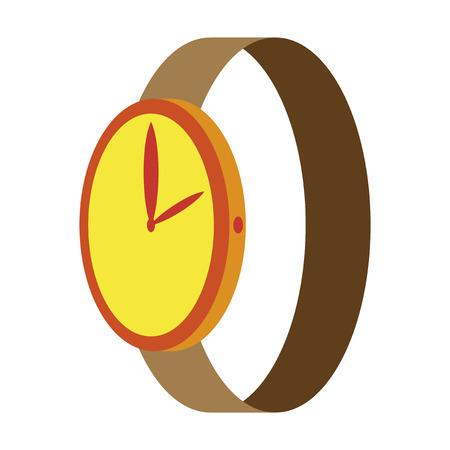 cronógrafo: Icon in flat design fashion Wrist Watch