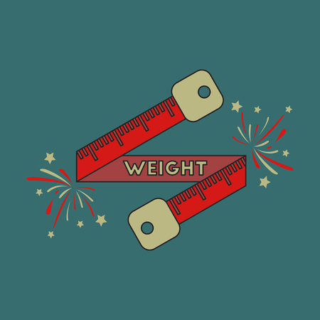 Icon in flat design Weight loss logo