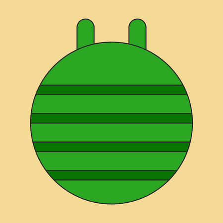 fitball: Icon in flat design Fitball Illustration