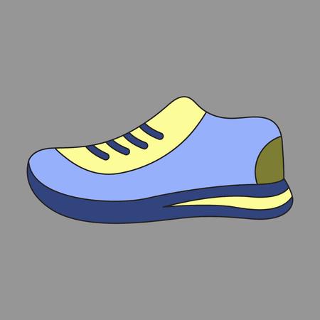フラットデザインのアイコン、スポーツシューズ