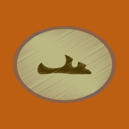 A vector illustration of flat shading style icon footwear flip flops