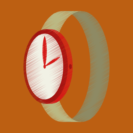 A vector illustration of flat shading style icon Wrist Watch