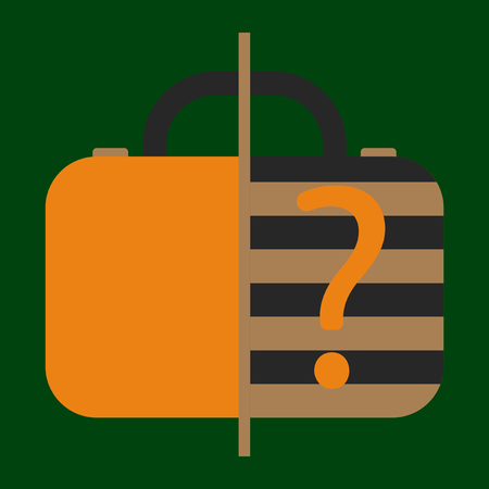 Icon in flat design for airport Baggage scanner Illustration