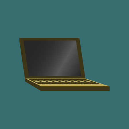 Technology gadget in flat design laptop