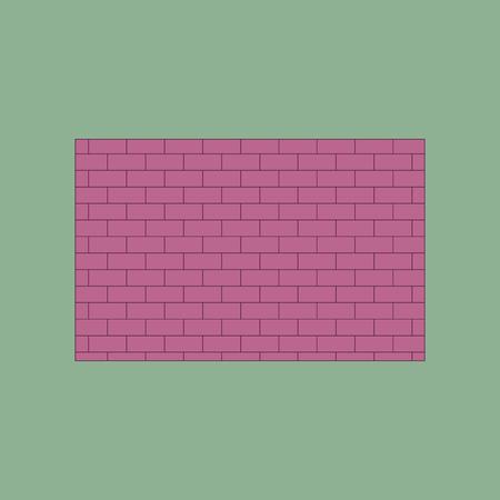 Icon in flat design Brick wall Illustration