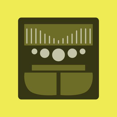 Technology gadget in flat design music Center Illustration