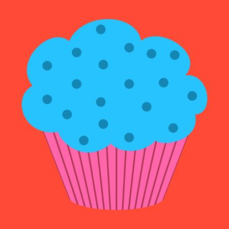 Sweet dessert in flat design Muffin Illustration