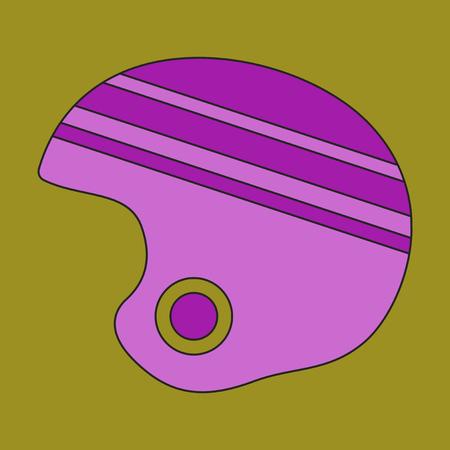 Icon in flat design Ski helmet