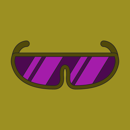 Icon in flat design Ski goggles